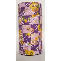 Scatola porta tè_ Japan viola con fiori 200gr.