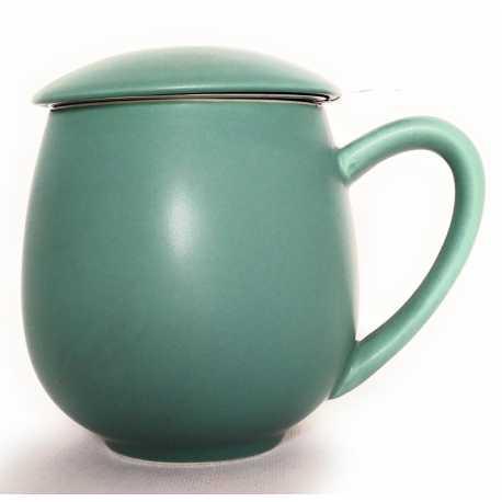 Tazze_Ceramica bombata color petrolio con filtro