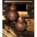 Teiera artistica con Tea Caddy_Yi Xing